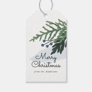 Belles vacances - étiquette de cadeau de Noël