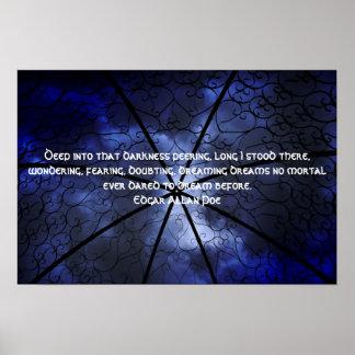 Belvédère d'obscurité - Edgar Allen Poe Poster