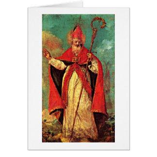 Bénédiction de Saint-Nicolas par Francesco Guardi Carte De Vœux