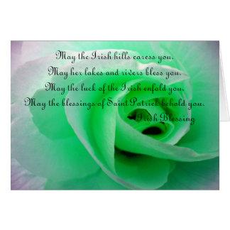 Bénédiction irlandaise carte de vœux