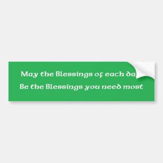 """Bénédiction irlandaise """"les bénédictions de chaque autocollant de voiture"""