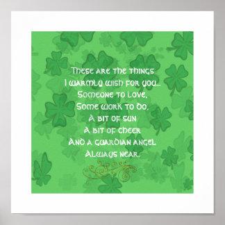 Bénédiction irlandaise - quelqu'un à aimer - poster