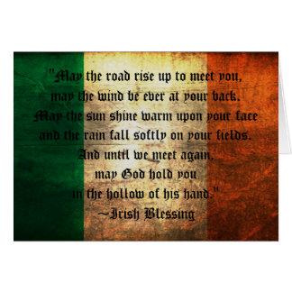 Bénédiction irlandaise sur la carte de voeux
