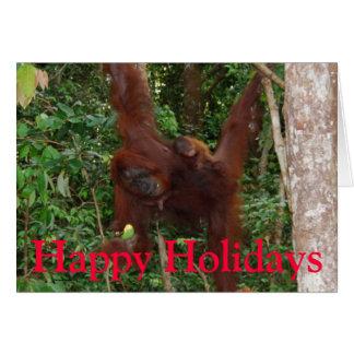 Bénédictions de Noël animales Carte De Vœux