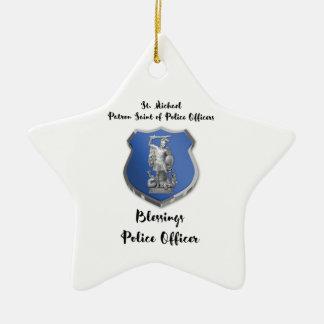 Bénédictions de St Michael au nouveau policier Ornement Étoile En Céramique