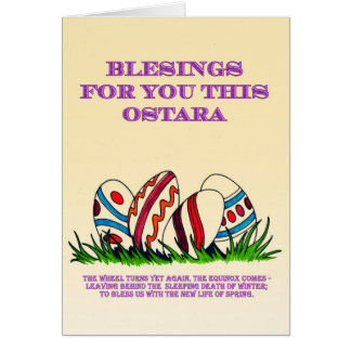 Bénédictions d'Ostara pour vous : Carte