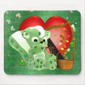 Bénédictions et un bon nombr irlandais d amour sur tapis de souris