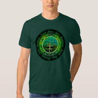 Bénédictions, foi, arbre d'harmonie de la vie en t-shirts