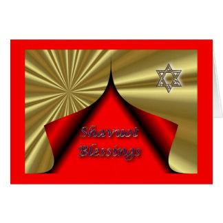 Bénédictions hébreues juives de Shavuot de Cartes