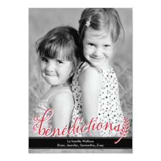 Bénédictions Holiday Photo Cards Carton D'invitation 12,7 Cm X 17,78 Cm