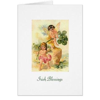 Bénédictions irlandaises carte de vœux