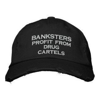 Bénéfice de BANKSTERS des cartels de drogue Casquette Brodée