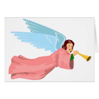 Béni avec la carte de Noël d'anges