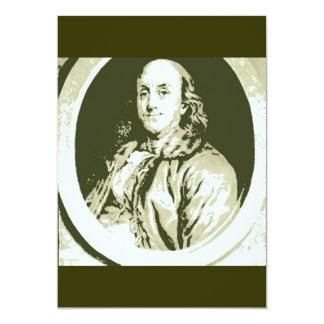 Benjamin Franklin Carton D'invitation 12,7 Cm X 17,78 Cm