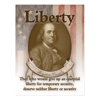 Benjamin Franklin - liberté Carte Postale