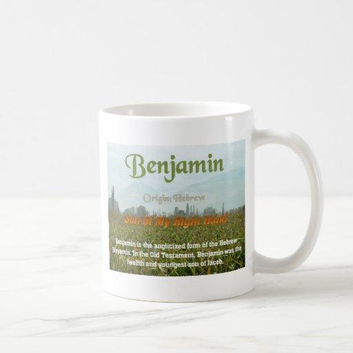 Benjamin, signification nommée mug à café