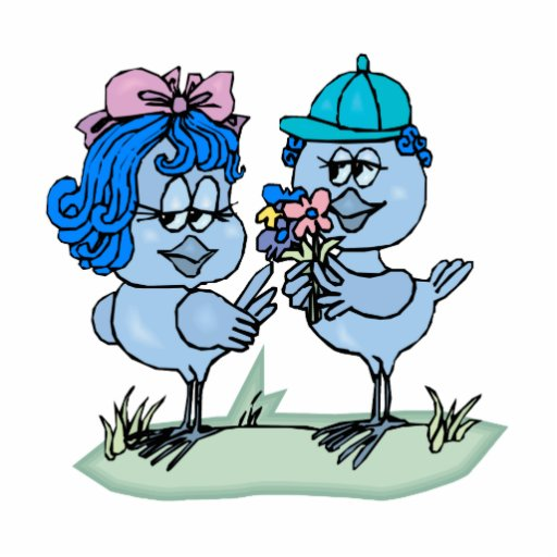 Benny et geai bleu de Binny Découpage En Acrylique
