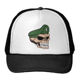 Béret vert de crâne casquettes