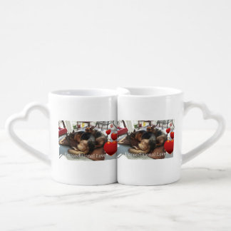 "Berger allemand ""amour sans conditions "" mug"