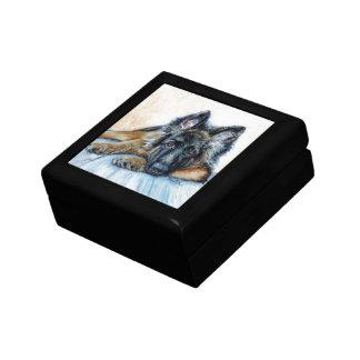 Berger allemand petite boîte à bijoux carrée