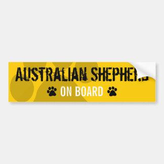 Berger australien à bord autocollant pour voiture