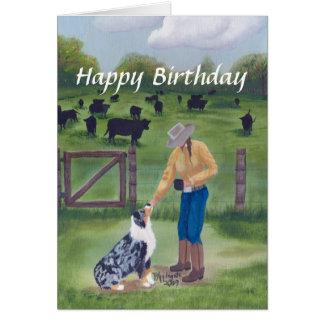 Berger australien - joyeux anniversaire cartes