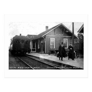 Berger de dépôt de chemin de fer de Louis Pesha Cartes Postales