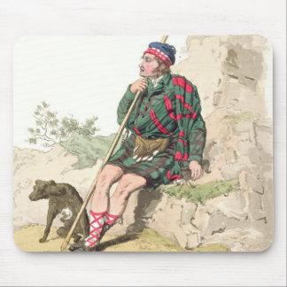Berger des montagnes, de 'costume de Great Britain Tapis De Souris