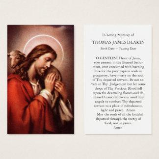 Berger funèbre 4 de la carte   Jésus de prière bon