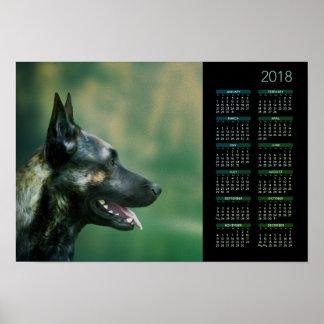 Berger néerlandais - calendrier 2018 de Dutchie Poster