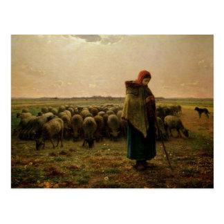 Bergère avec son troupeau, 1863 cartes postales
