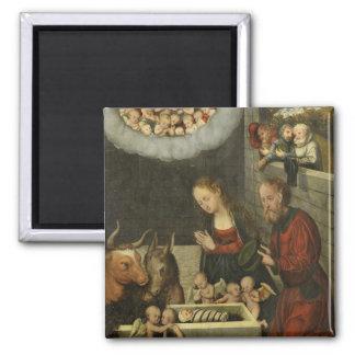 Bergers adorant le bébé Jésus par Cranach Aimant