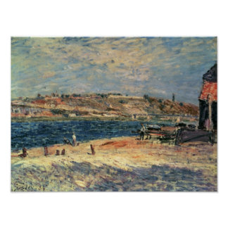 Berges d'Alfred Sisley | au Saint-Mammes Poster