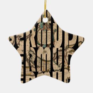bermuda1662 1 ornement étoile en céramique