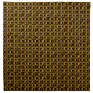 Bernaches dans des serviettes de tissu d'or