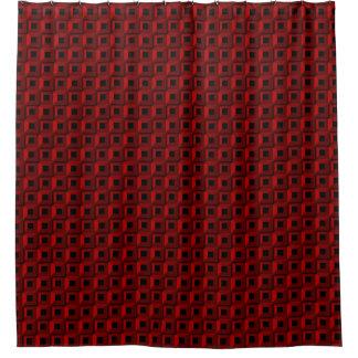 Bernaches dans le rideau en douche rouge