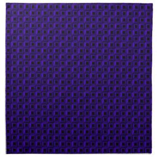 Bernaches dans les serviettes bleu-foncé de tissu