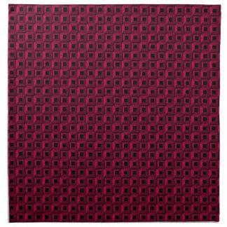 Bernaches dans les serviettes roses de tissu
