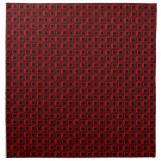 Bernaches dans les serviettes rouges de tissu