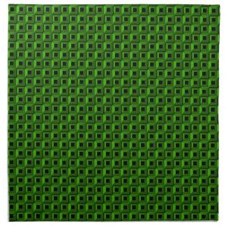 Bernaches dans les serviettes vertes de tissu