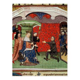 Bertrand du Guesclin avant Charles V Carte Postale