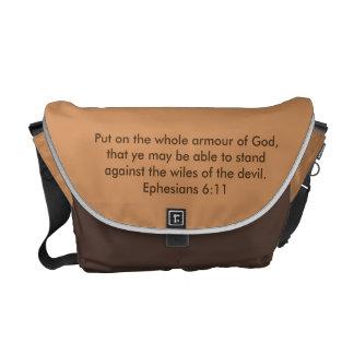 Besace Armure du sac messenger w/Bible à Rickshaw de Dieu