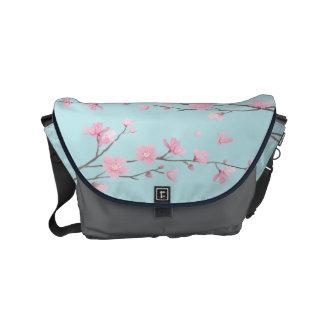 Besace Fleurs de cerisier - bleu de ciel