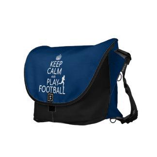 Besace Gardez le football de calme et de jeu (le football