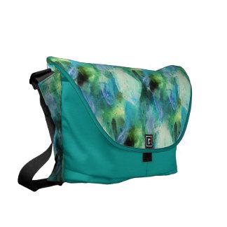 Besace Le résumé vert-bleu laisse le sac messenger