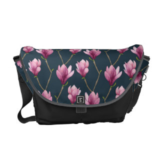 Besace Motif floral d'aquarelle de magnolia