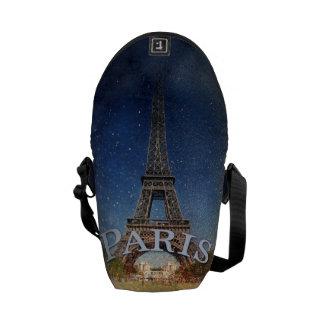 Besace Tour Eiffel de nuit étoilée de Paris