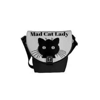 """Besaces """"Madame folle"""" mini sac messenger de chat"""