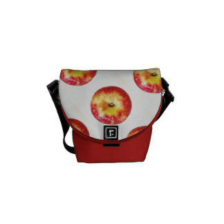 Besaces Mini sac messenger rouge à Apple