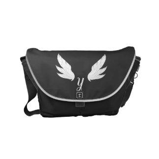 Besaces Sac messenger blanc à ailes au monogramme |